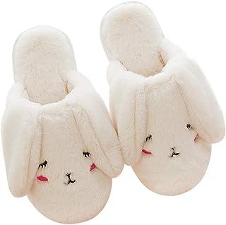 LLRCAZR Zapatillas Zapatillas de algodón de Invierno, señoras Encantadoras, Casas de Remolque de algodón, Antideslizantes Interiores de Fondo Grueso, Zapatillas de Pelo cálido.