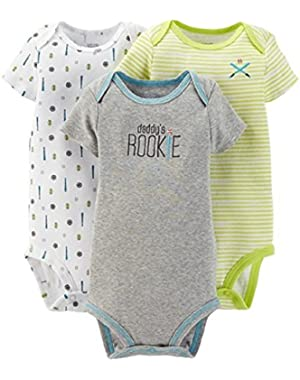 Carter's Just One You Baby Boys' 3 Pack Sports Bodysuits Green/grey