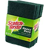 3M 228 Scotch-Brite Heavy Duty Scour Pad, 8 Count