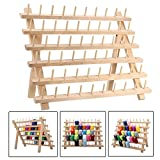 Arts & Crafts : KINGSO 60 Spool Wooden Thread Rack and Organizer for Sewing Quilting Embroidery