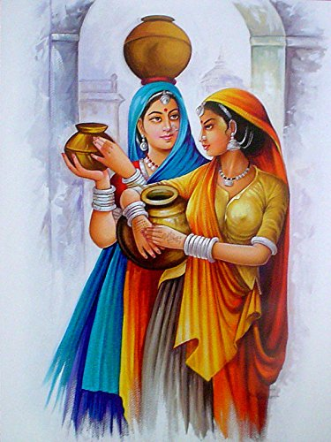 Village ladies Indian Poster/ Art of India: Reprint on Paper