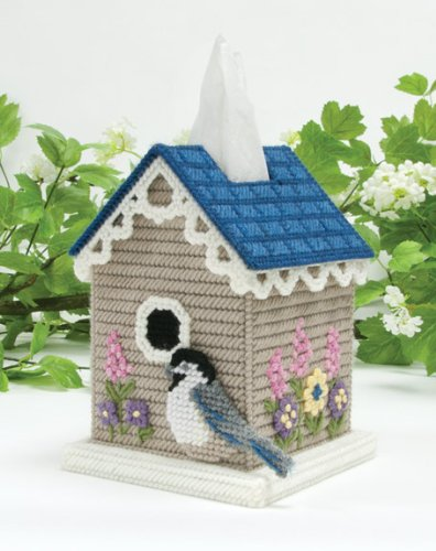 Birdhouse Tissue Box Plastic Canvas Kit