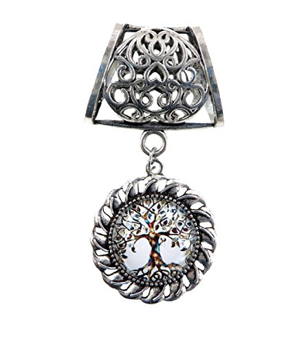 tree of life scarf pendant slide wholesale scarf necklace DIY Tube Slide Pendant