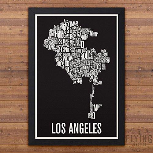 Los Angeles Neighborhood Map Print