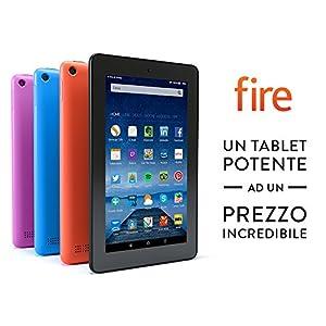 """Tablet Fire, schermo da 7"""", Wi-Fi, 8 GB (Nero) - Con offerte speciali"""
