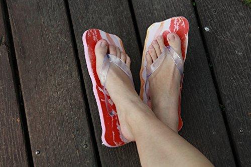 Zapatillas Vegetales Zapatillas Creativas de Impresión Vegetal Tamaño Libre Cerdo