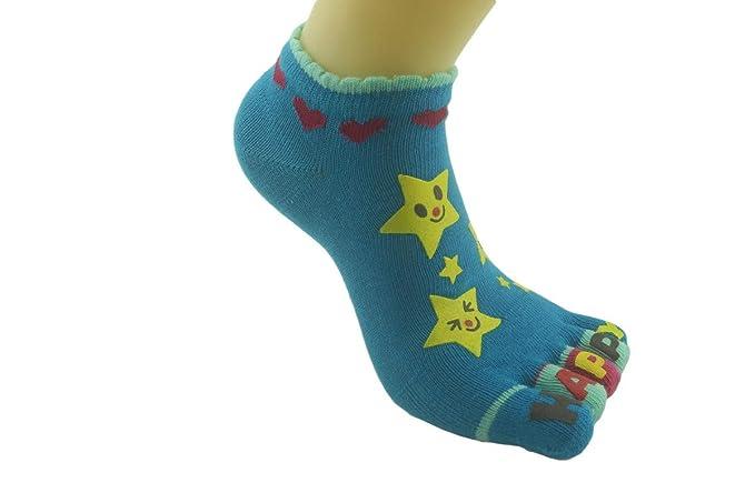4 Paare Zehensocken Kinder Finger Socken aus Baumwolle Junge//M/ädchen Witzige Socken Karikatur Socken Niedliche Tiere Socken Bunt Muster Sneaker Socken,3-12 Jahre