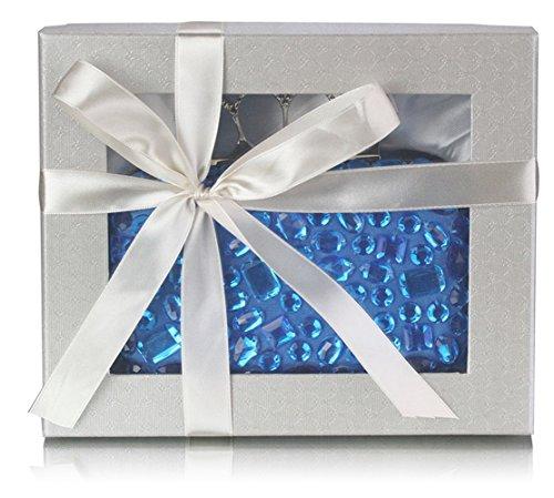 Décoration Adulte Bleu Teal CW Cristal Pochettes Unisexe 7Iwxqp4