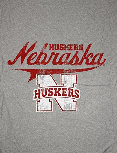 - The Northwest Company University of Nebraska-Lincoln Cornhuskers NCAA Sweatshirt Throw Blanket, Grey