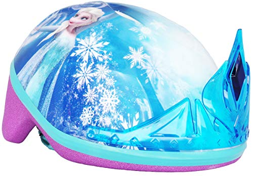 Frozen Toddler Kids Bike Helmet for Girls Ages 3-5 years by Disney with Princess Tiara (Disney Frozen Helmet)