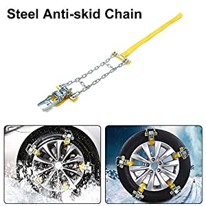 Car Snow Anti-skid Chain Manganese Steel Universal Tire Chain Snowy Muddy Ground Emergency Quick Installation Anti Chains for Car