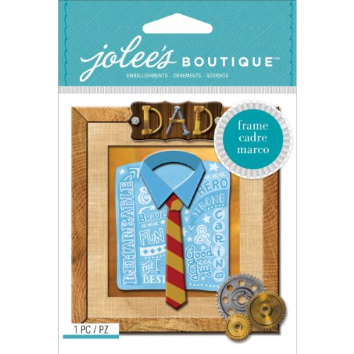 Jolee's Boutique Dimensional Stickers, Dad Frame (Layered Chipboard Tags)