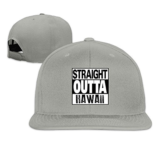 Straight Outta Hawaii Solid Snapback Baseball Hat Cap One Size Ash