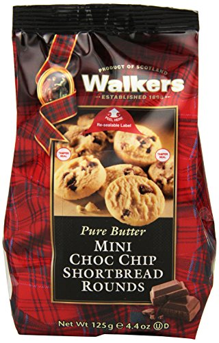 Walkers Shortbread Mini Chocolate Chip Rounds, 4.4 Oz. Bags (Pack of 6) (Chocolate Chip Shortbread Cookies)