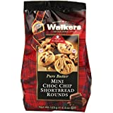 Walkers Shortbread Mini Chocolate Chip Rounds, 4.4 Oz. Bags (Pack of 6)