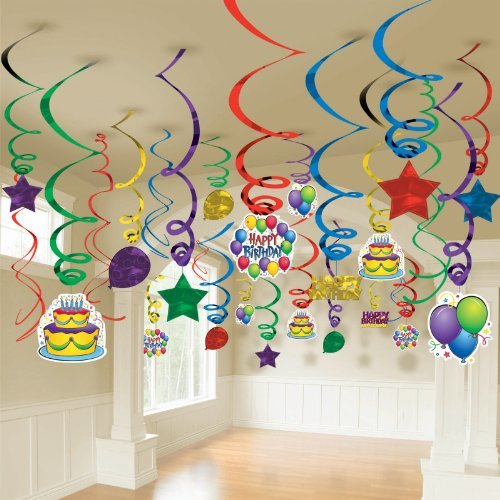 Balloon Fun Mega Value Pack Swirl Decorations (50) Party Supplies]()