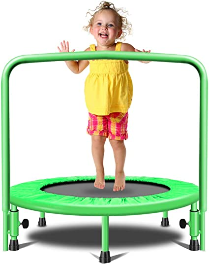 """36/""""//38/""""//55/"""" Round Kids Mini Trampoline Jumping Play Toy Fun Outdoor Exercise"""