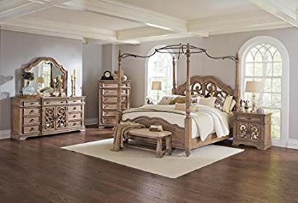 Amazon.com: Inland Empire Furnitures Ilana Eastern King Canopy ... on king storage bedroom sets, global bedroom sets, coleman bedroom sets, king room sets, king wall bedroom sets, classic bedroom sets, king size bedroom, delta bedroom sets, king bedroom sets clearance, hello kitty bedroom sets, universal bedroom sets, browning bedroom sets, bedroom dresser sets, lodge bedroom sets, master king bedroom sets, frontgate bedroom sets, king headboard, king size head and footboards,