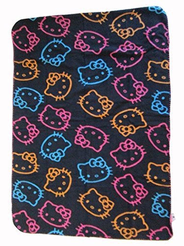 (Hello Kitty Fleece Throw Plush Blanket 35