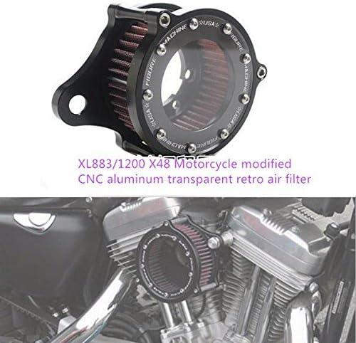 Dlll Luftfilter Für Motorräder Cnc Handwerk Transparent Für Harley Davidson Sportster Xl883 1200 X48 2004 2014 Scooter Auto
