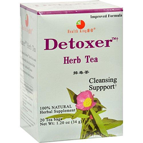Health King Detoxer Herb Tea - Cleanser to Remove Toxins - Caffeine Free - 20 Tea Bags (Pack of - Detoxer King Health Tea
