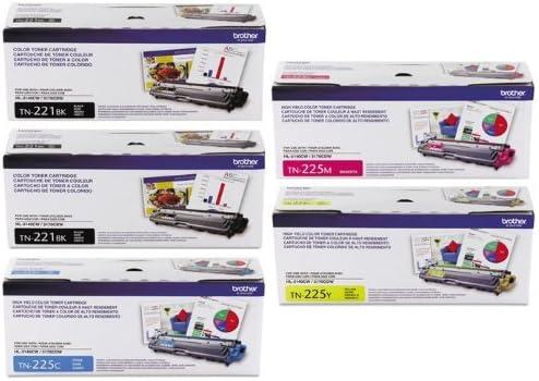 4//PK Color Toner Cartridge Set for Brother TN221BK TN225C TN225Y TN225M