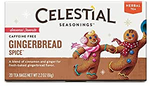 Celestial Seasonings Gingerbread Spice Herbal Tea, 20 Count (Pack of 6)