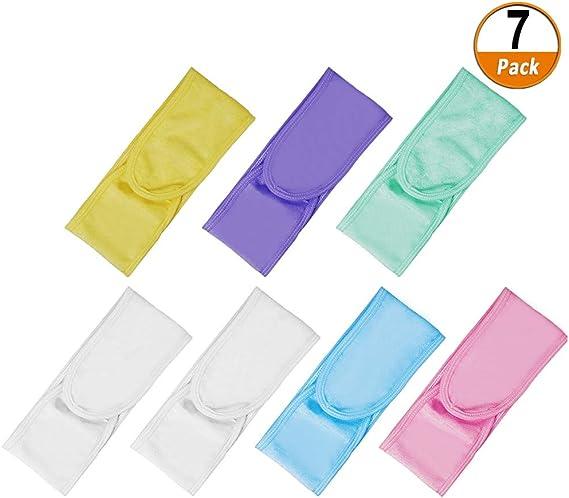 7 Pack Facial Spa Diadema Maquillaje Diadema Tela de rizo Diadema ...