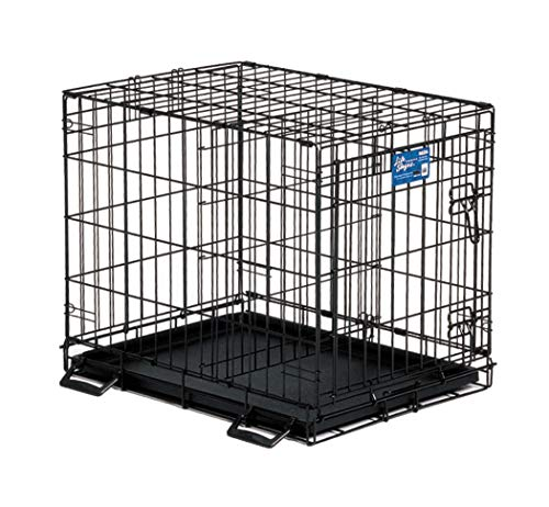 Large Midwest Life Stages - Midwest Life Stages Single-Door Folding Metal Dog Crate