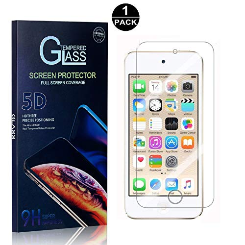 iPod Touch 5th / 6th Tempered Glass Screen Protector, UNEXTATI Screen Protector Film, HD Clear Tempered Glass Film for iPod Touch 5th / 6th (1 - Film Ipod
