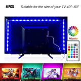 PANGTON VILLA Led Strip Lights 6.56ft for 40-60in TV, USB LED TV Backlight Kit with Remote - 16 Color 5050 LEDs Bias Lighting for HDTV