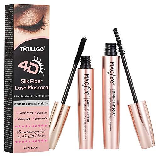 4D Silk Fiber Lash Mascara, Fiber Mascara, 4D Silk Fiber Eyelash Mascara Waterproof, Best for Thickening & Lengthening, Lasting All Day, Waterproof, Smudge Proof (Fiber Mascarax1PCS)