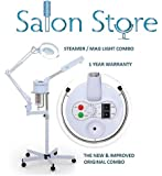 Facial Steamer Mag Light Combo with Ozone by SalonStore SSE211N 1 Year Warranty
