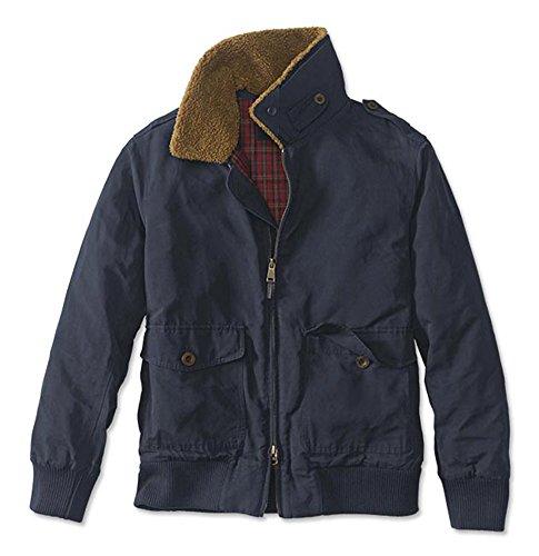 Shearling Collar Bomber Jacket - Orvis Men's Shearling Collar Bomber Jacket, X Large