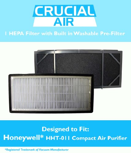 High Quality Honeywell HHT-011 Air Purifier Filter Kit - 1 HEPA Filter with Built In Odor Neutralizing Particle Pre-Filter, Part no. HRF-B2C, 3811-350, 16216, 30LB1620XB2, HRF-C1, by Think Crucial