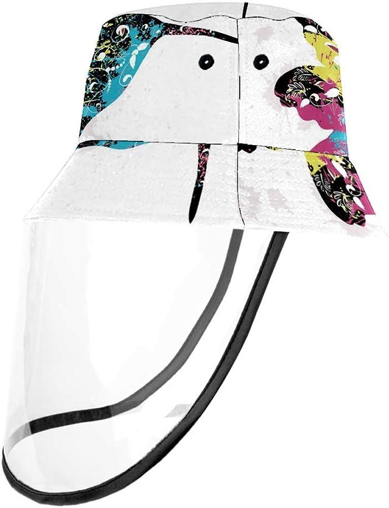 MUMIMI - Funda de seguridad a prueba de viento, a prueba de polvo, protección de la cara, sombrero colorido, patrón de grafiti, sombrero de pescador, tapa para actividades al aire libre