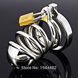 ccTina Top Quality Stainless Steel Male Chastity Cage, Metal Cock Cage Chastity Belt, Penis Rings Device Adult Sex Toys Sex Product 1pcs