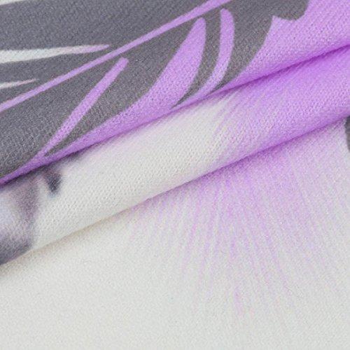 Elegante Camicetta Maniche Canotta Tops UOMOGO Donne Donna Shirt Viola Bianco Maglietta Estivi Senza Casual Camicetta Donne T FqSU10