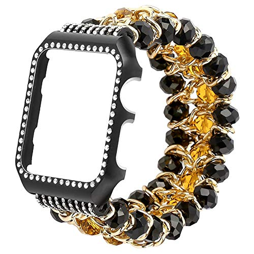 Amazon.com: JEWH Crystal strap with frame band for Apple watch ...