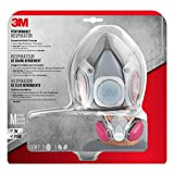 3M Half Facepiece Reusable Respirator All-in-One Kit, Household Multi-purpose, M (1 Mask and 1-pair Cartridges)