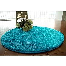 FurFurug Super Soft Indoor Modern Shag Area Rug,Fluffy Rugs Shaggy Area Rug for Dining Room, Home Bedroom Carpet Floor Mat,Blue 200