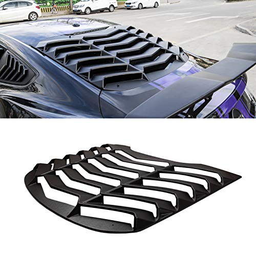 Rear Window Louvers Matte Black ABS Window Visor Sun Shade Cover Vent in GT Lambo Style for Ford Mustang 2015 2016 2017 2018