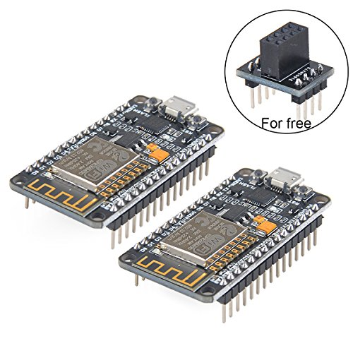 Makerfocus 2pcs ESP8266 Module ESP-12E NodeMcu LUA WiFi Internet New Version Development Board