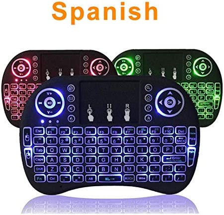 Color: Spainsh backlight Calvas Russian English Spanish 2.4GHz Wireless i8 Keyboard Touchpad i8 keyboard 4 versions For Android TV BOX Air Mouse PS3 PC