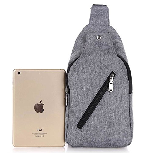 Canvas Men's Cloth Casual Bag Chest Messenger Shoulder C Oxford Students Backpack 45TPqwd
