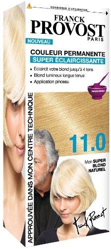 franck provost couleur permanente super blond naturel 110 pinceau professionnel offert - Coloration Eclaircissante Blond