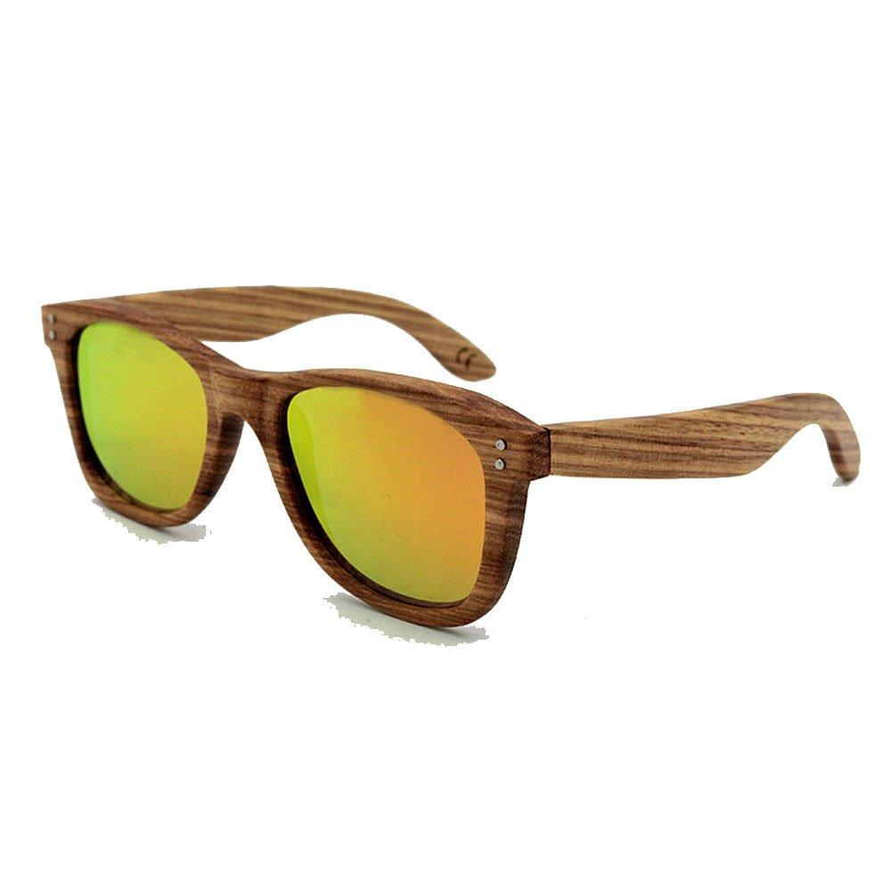 orange Unisex Sunglasses Vintage Rivet Decoration Natural Zebra Wood Sunglasses Polarized Lens UV Predection for Men Women Fashion Sunglasses (color   orange)