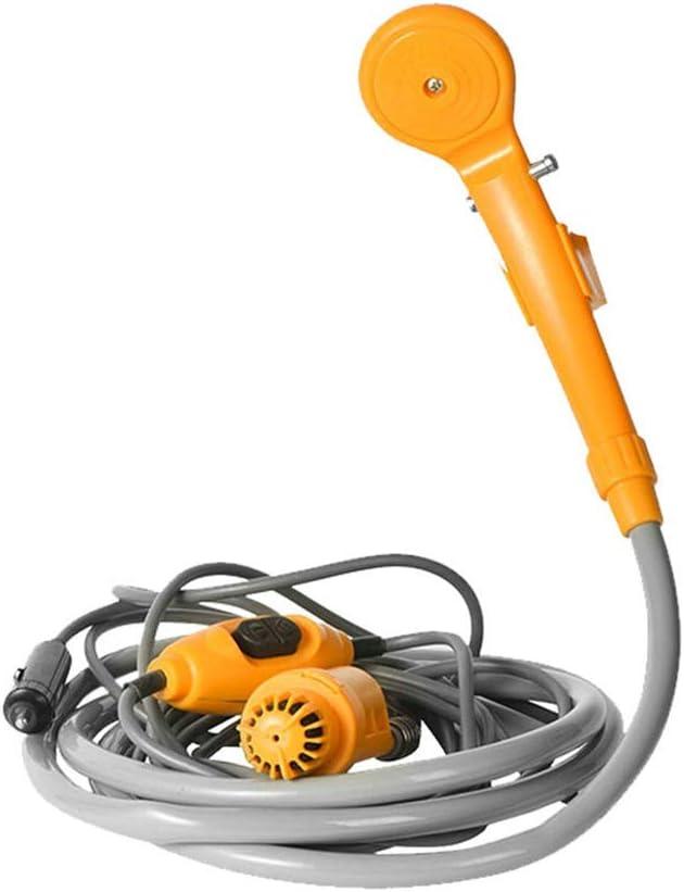 KKmoon Ducha Portatil 12v,con Bomba de Agua, Cable de 6 Metros con Enchufe para Encendedor de Cigarrillos, Agua máxima de 2.5L por Minuto