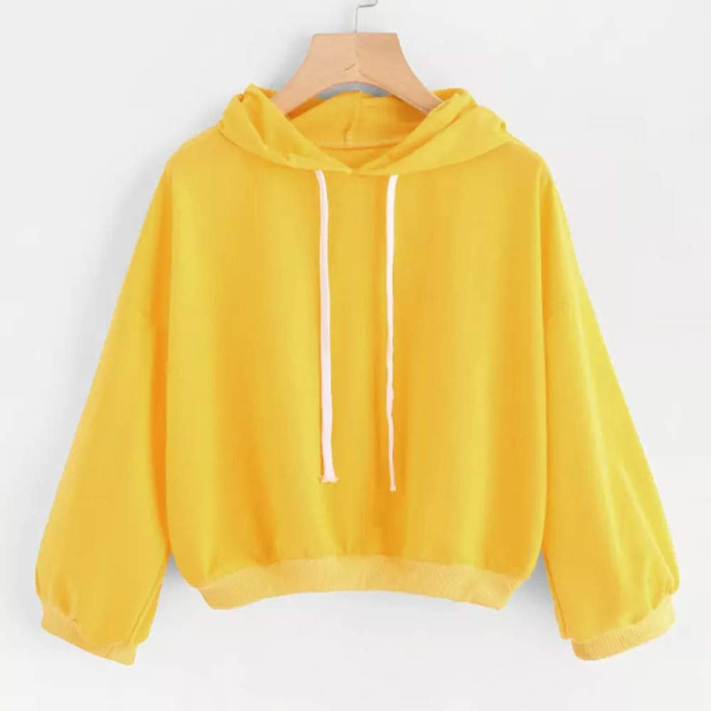 Clearance Women Hoodie Cinsanong Hooded Outwear Blouse Solid Sweatshirt Autumn Winter Ladies Tops at Amazon Womens Clothing store: