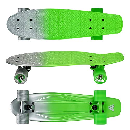 "Arcade Mini Cruiser Skateboard Complete - 22.5 Inch Micro Board - Vintage Skate Board for Beginners, Teens, Kids, Boys & Girls (22.5"" Atomic Surfer)"